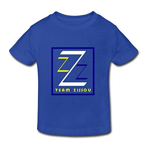 Toddler Kids Little Boys Girls Member Zissou Society Logo T-Shirt RoyalBlue Age 2 Toddler