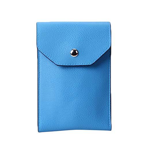 Blue Multifunctional Bag Kairuun Crossbody Cell Leather Clutch Bags Single Mini Phone Shoulder Wallet Women Artificial 4w6qwgBAx