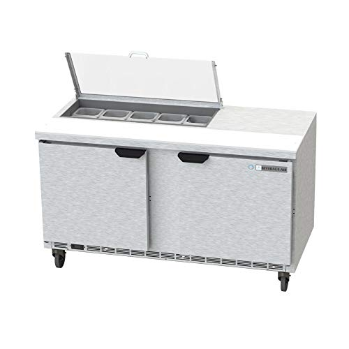 - Beverage Air SPE60HC-10-CL Elite Series Clear Lid Sandwich Top Refrigerated Counter, 60