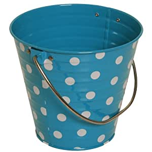 Blue with small white dots small colorful for Tiny metal buckets