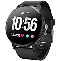 OPTA SB-092 Bluetooth Heart Rate + Smart Watch + All-in-One Activity Tracker + Sleep Monitor Compatible with Android/iOS Smart Phones for Unisex