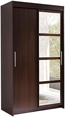 Armario Nero 120, elegante Dormitorio Armario con espejo, 120 x 216 x 60 cm, moderno para armario de puertas correderas, Dormitorio Juvenil, Puerta corredera,: Amazon.es: Juguetes y juegos