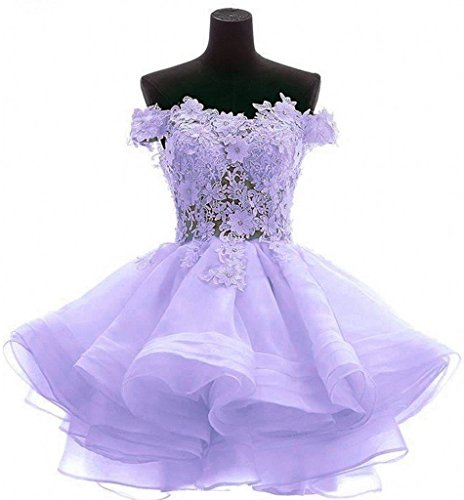 Snowskite Womens Lovely Short Cute Princess Homecoming Prom Dress 6 Light Purple (Cinderalla Dress)