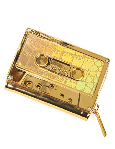 FYDELITY- Cassette Tape Wallet | GOLD Metallic Chrome GOLD SNAKE | Coin Case Classic Rock Mom Gift