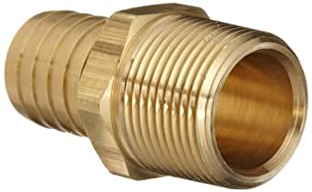 "Dixon BN88 Brass Hose Fitting, Adapter, 1"" NPTF Male x 1"" Hose ID Barbed"