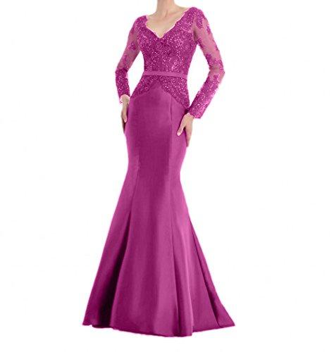Fesltichkleider Spitze Mit Etuikleider Partykleider Damen Abendkleider La Langarm Lang Meerjungfrau Braut Pink mia Promkleider Bgwn6qzxp