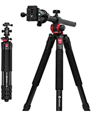Moman MPT-284 Horizontal Arm Professional Portable Camera Tripod 67 inches with 360°Ball Head for DSLR Camera Video Camcorder Overhead/Macro Shoot. …