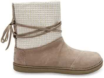 49cb76b6505 TOMS Kids Unisex Suede Metallic Nepal Boot Taupe Suede 6 M US Big Kid