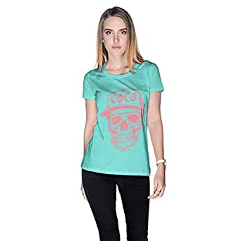 Creo Watermelon Coco Skull T-Shirt For Women - M, Green