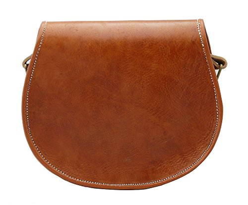 Truly Tan Style Leather Made Embossed Moroccan Hand In Saddle Vintage SwrqTzS