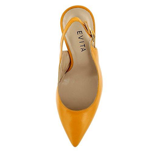 Evita Shoes Alina - Zapatos de vestir de Piel para mujer naranja