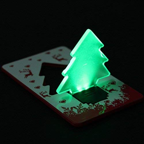 Folding Led Pocket Christmas Tree Card Light Lamp in US - 6