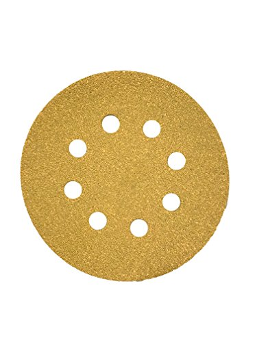 (Karebac K3-585-180 GoldStearated Aluminum Oxide180 Grit Dustless Hook & Loop Sanding Discs with 5