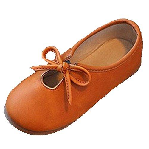 Ohmais Kinder Mädchen flach Freizeit Sandalen Sandaletten Kleinkinder Mädchen Halbschuhe Sandalette Ballerinas Brun