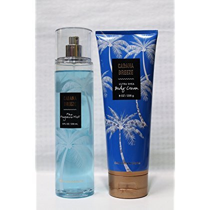 Bath & Body Works ~ Signature Collection ~ Cabana Breeze ~ Gift Set~ Fine Fragrance Mist & Ultra Shea Body Cream