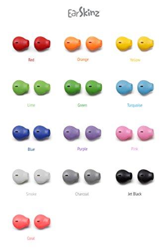 34379f7b9f2 EarSkinz EarPod Covers (ES2) - Jet Black - for Apple iPhone 7 / 6S
