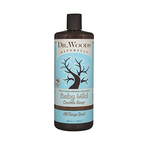 Dr. Woods Unscented Body Wash Baby Mild Liquid Castile Soap, 32 Ounce - Moisture Soap Liquid Fragrance