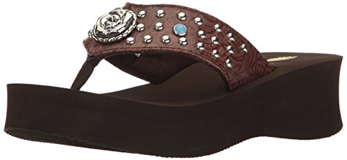 Brown Coralee Sandal Volatile Wedge Women's aCx61xnqZ