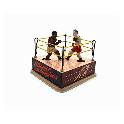 Andensoner Anneau de Boxe Boxers Jouet en étain, Classique Vintage Clockwork Remontage Anneau de Boxe Boxers Enfants Enfants Jouets en tôle avec clé
