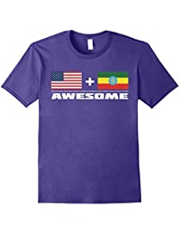 American + Ethiopian = Awesome USA and Ethiopia Flag T-Shirt