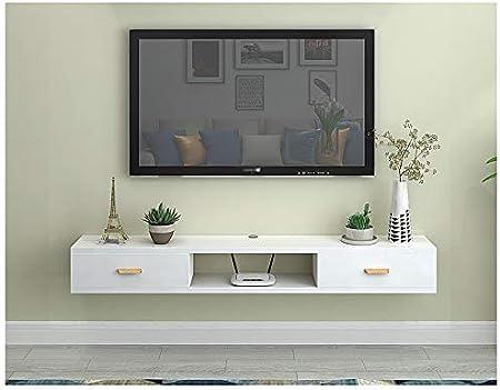 Estante flotante de tamaño pequeño para TV, caja de almacenamiento ...
