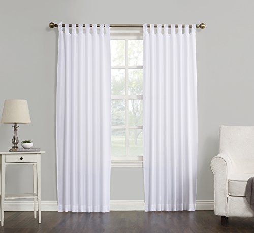 No. 918 Trevor Semi Sheer Tab Top Curtain Panel, 40