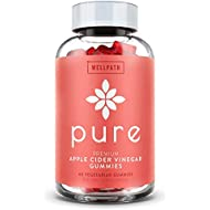 Pure Apple Cider Vinegar Gummies - with Raw, Organic, Unfiltered ACV from The Mother - Gummy Alternative to Apple Cider Vinegar Capsules, Pills, Tablets - Weight Loss, Detox, Cleanse Support