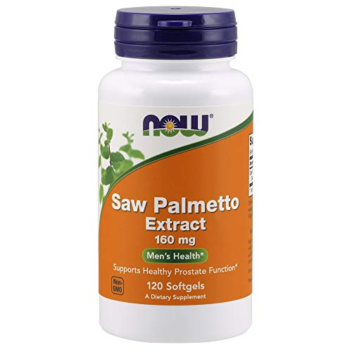 NOW Supplements, Saw Palmetto Extract 160 mg, 120 Softgels