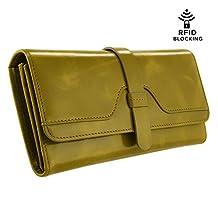 Kattee Vintage Women's Genuine Leather Trifold Wallet