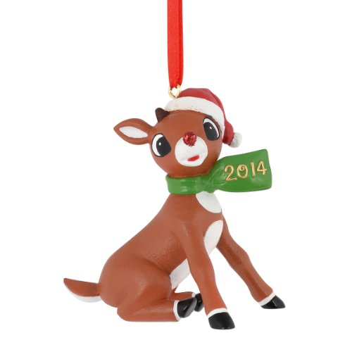 Department 56 Rudolph Rudolph with 2014 Scarf Ornament, 2.75-Inch