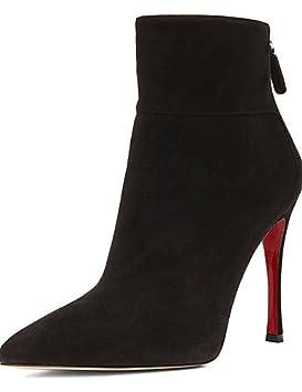 xzz/Las mujeres de forro polar zapatos stiletto talón moda botas/botas botas oficina
