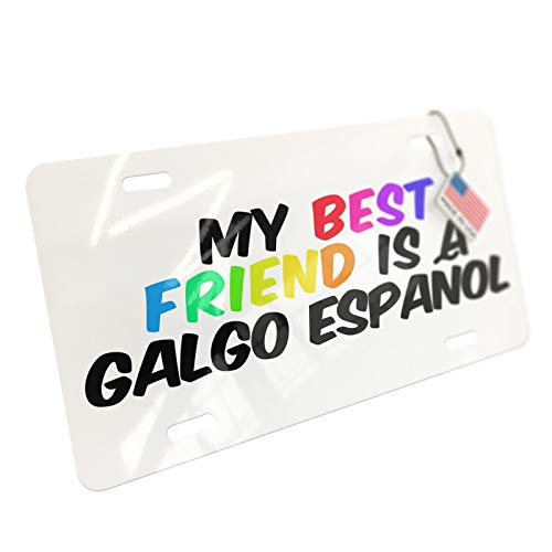NEONBLOND My Best Friend a Galgo Espaï¾-ol Dog from Spain Aluminum License Plate