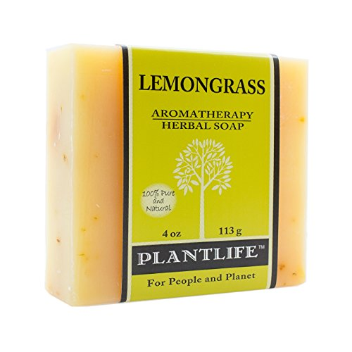 Lemongrass 100% Pure & Natural Aromatherapy Herbal Soap- 4 oz (Therapy Herbal Bath)