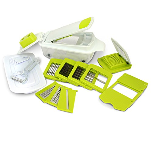 MegaChef 8-in-1 Multi-Use Slicer Dicer and Chopper Kitchen Multi-Use Tool Mandoline, Vegetable and Fruit Peeler and Soft Slicer