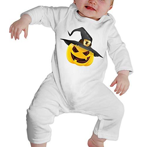 Pumpkin Face Halloween Soft Cotton Comfotable Unisex Body Long Sleeve Onesies ()