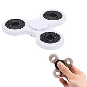 Takit TUMI Fidget Hand Spinner - El Mejor Juguete Reductor De Estrés para Dedos Ansiedad Y El Estrés - para Adultos O Niños - Blanco