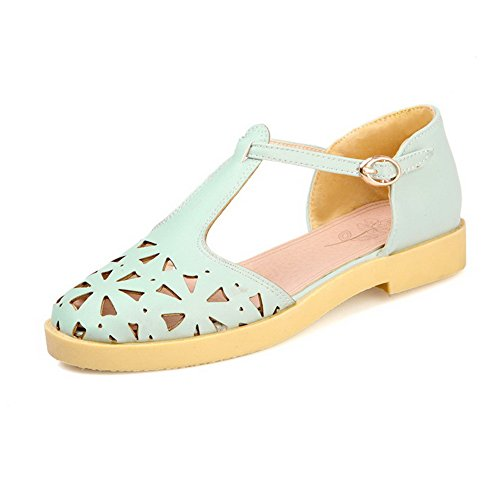 weenfashion-womens-closed-toe-low-heels-soft-material-solid-buckle-sandals-blue-34