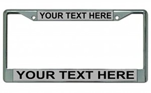 Custom Personalized Gray Background Chrome Frame License Plates Online Other case