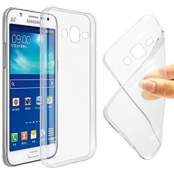 Thinkzy Transparent Soft Back Case Cover for Samsung Galaxy Grand Prime  G530  Mobile Accessories