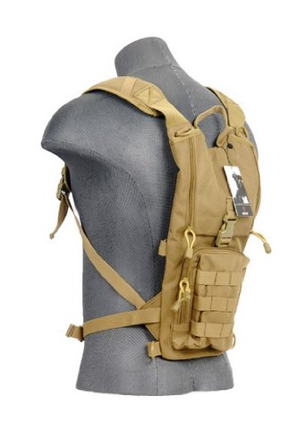 Lancer Tactical CA-321T Lightweight Airsoft Hydration Pack (Tan), Outdoor Stuffs