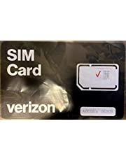 Verizon Wireless 4G LTE SIM Card - All 3 Sizes (3-in-1), Nano/Micro/Standard Sizes (4FF / 3FF / 2FF)