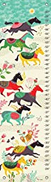 Oopsy Daisy Growth Charts Wild Horses by Helen Dardik, 12 by 42-Inch
