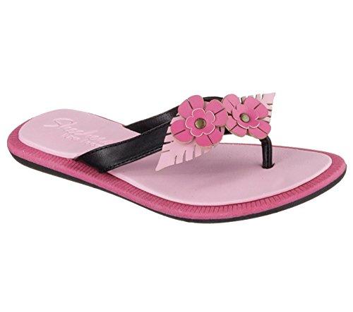 filles Indulge Crush Skechers noir rose Thong pour Luxe Sandales O7qYxp