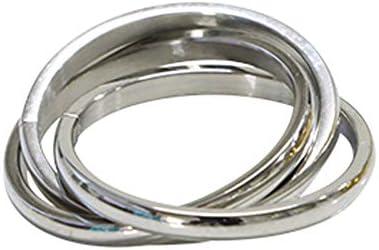 ステンレス リング(59) 3連の指輪 銀色(シルバー) 9号