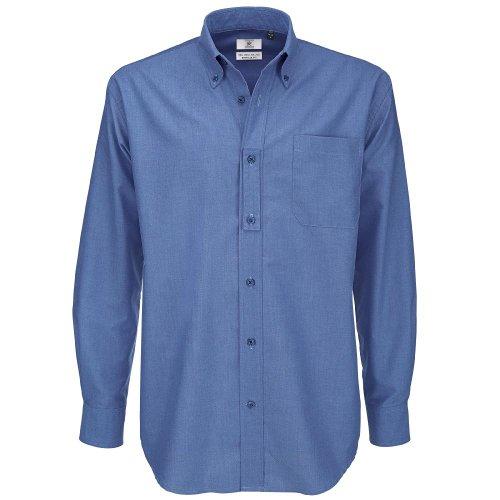 Chip amp;c Classica Lunga Manica Uomo Blue Camicia B 01Rd0