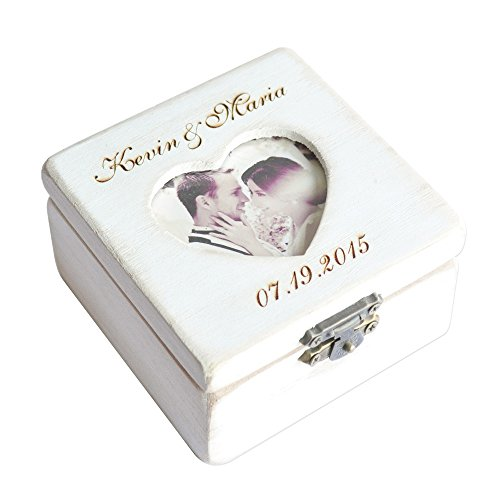 CLS wedding Personalized Wedding Ring Box,Picture Box,Photo Memory Box,Ring Bearer Box, Ring Box
