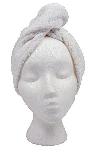Turbie Twist White Super-absorbent Hair Towel cotton 1 pack by Turbie Twist (Image #2)