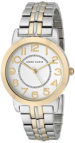 Anne Klein Women's AK/1791SVTT Easy-to-Read Two-Tone Bracelet