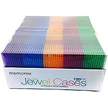 Memorex CD Slim Color Jewel Cases / 100 Pack