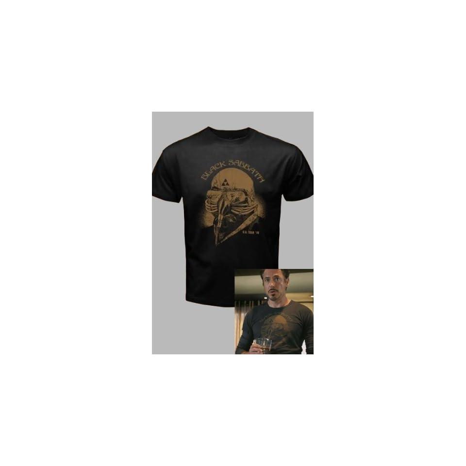 The Avengers Black Sabbath Iron Man Tony Stark T Shirt Tee SIZE XL Updated Version
